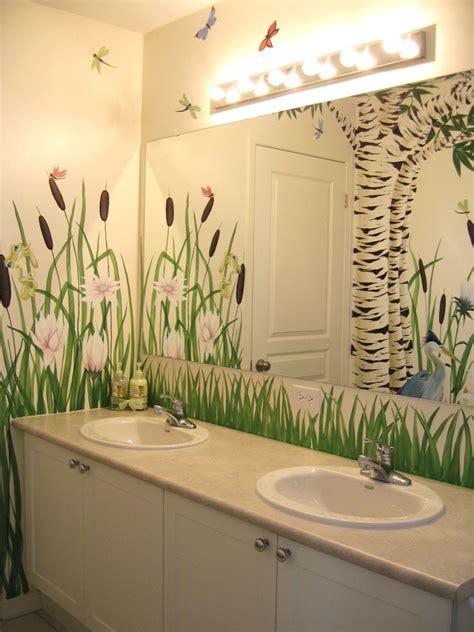 bathroom wall mural ideas bathroom mural by hamilton murals murals
