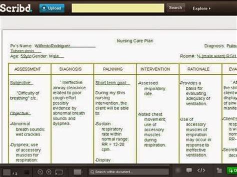 asthma care plan template copd nursing care plan nursing care plan exles