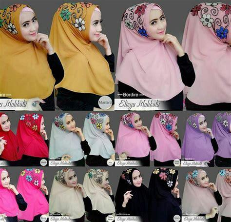 Gamis Batik Mahkota jilbab elisya mahkota bordire baju gamis terbaru