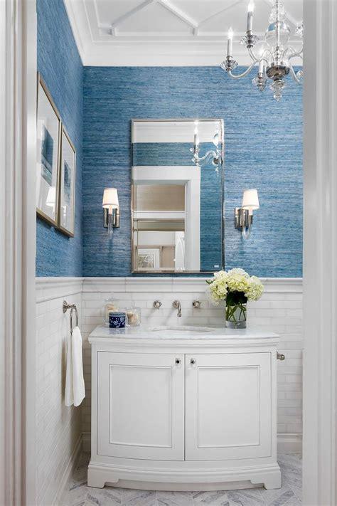 Wainscoting Tile Bathroom by Best 25 Bathroom Wallpaper Ideas On Half