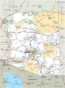 large detailed roads and highways map of arizona state