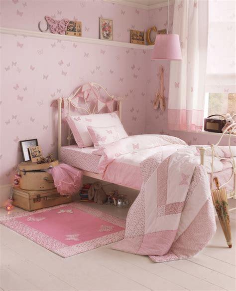 Small Girls Bedroom Ideas laura ashley bella butterfly wallpaper eclectic kids
