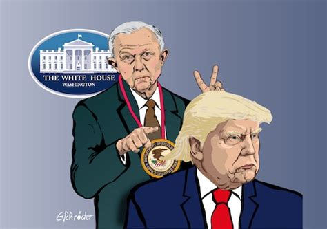 jeff sessions cartoon president trump sessions by eschr 246 der politics cartoon toonpool