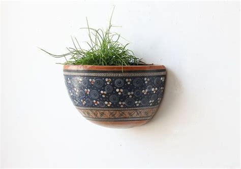 Pocket Planters by Hanging Pottery Wall Pocket Planter