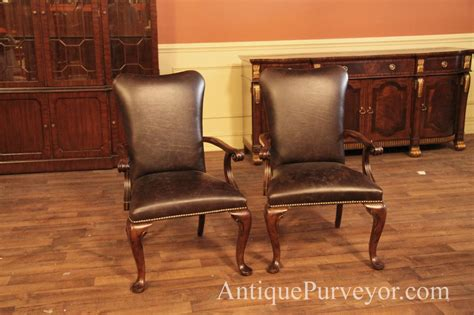 leather upholstered dining room chairs leather upholstered dining room arm chairs with queen anne