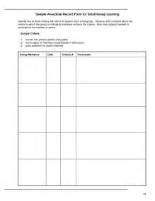 Anecdotal Template 7 best images of preschool anecdotal notes exles anecdotal observation exles anecdotal