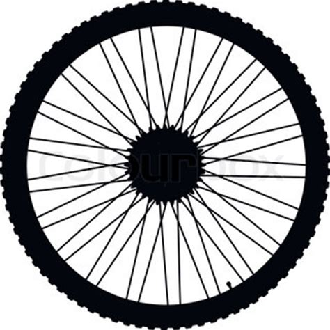 Bicycle Wheel Outline by Vector Outline Bike On A White Background Stock Vector