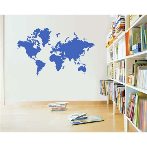 map wall decal large world map vinyl wall sticker decal decals