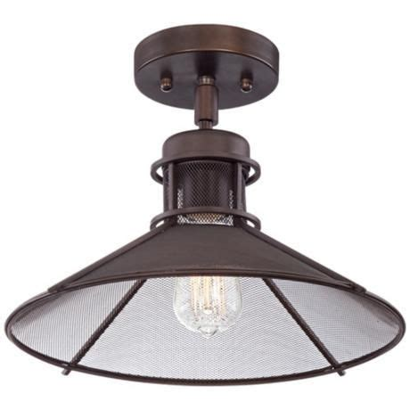 Glasgow Industrial 14 Quot Wide Oil Rubbed Bronze Ceiling Ceiling Lights Glasgow
