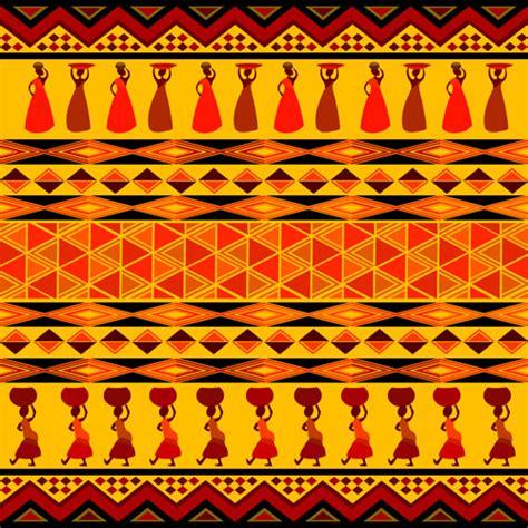 yellow african pattern エスニックな背景素材集めてみました オールベクトル素材 free style