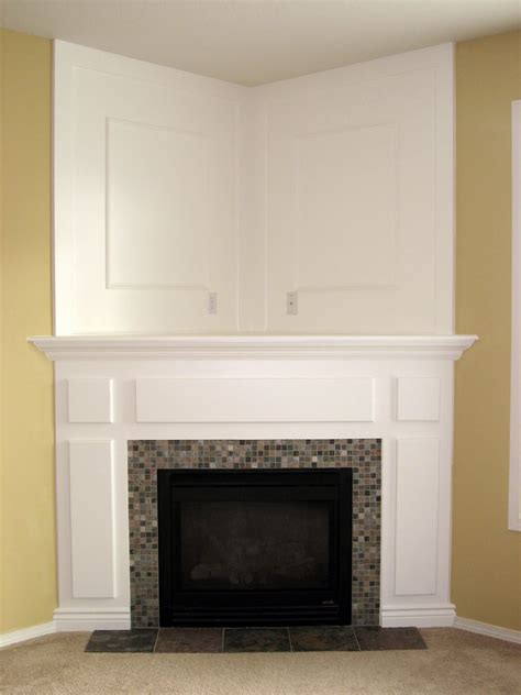 how to build a corner fireplace mantel and surround the dizzy house fireplace the reveal