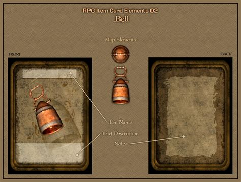 rpg item card template rpg item card elements 02 by neyjour on deviantart