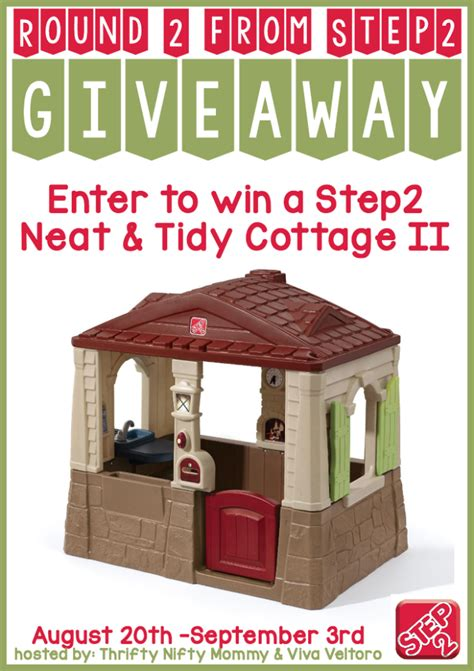 nanny to mommy step2 neat tidy cottage giveaway ends 9 3