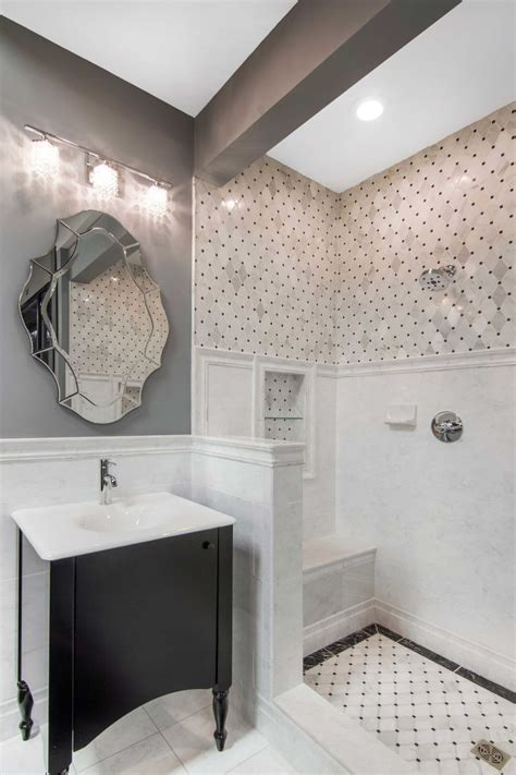 traditional and modern look with classic bathroom tile