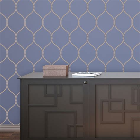 lattice wall decor wall stencil lattice trellis quatrefoil pattern azure set2