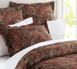 pottery barn bedding sets carrie paisley duvet cover sham traditional duvet