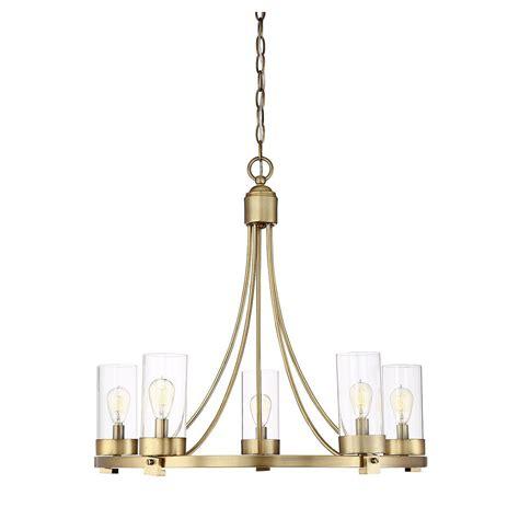 Filament Chandelier Filament Design 5 Light Brass Chandelier Cli Sh027316 The Home Depot