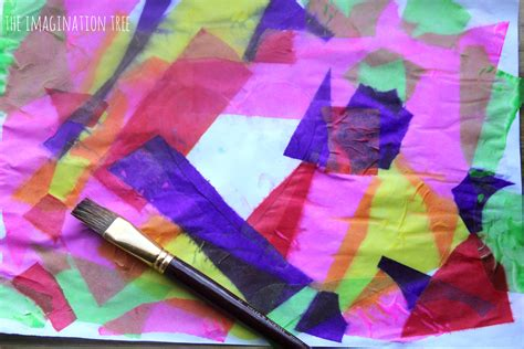 Craft Work With Tissue Paper - tissue paper bleeding resist the imagination tree