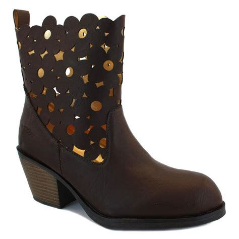 rocket rivera womens zip synthetic leather ankle boots