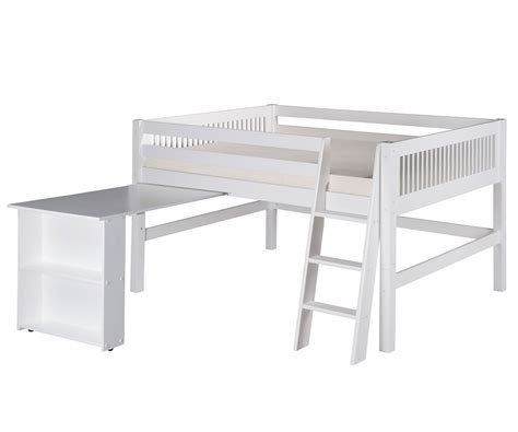 desk size camaflexi full loft bed with desk in white finish e413fd camaflexi furniture solid wood