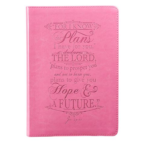 daily planner 2014 christian art publishers pink i know the plans jeremiah 29 11 journal