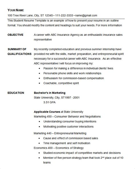 Free Resume Templates Exles by Basic Resume Template 51 Free Sles Exles Format