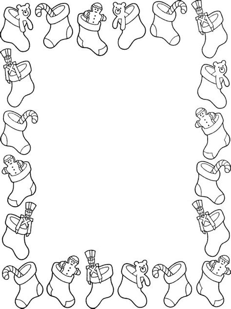christmas borders coloring page pin by i t on borders frames christmas winter