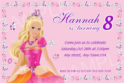 printable birthday invitations barbie barbie invitation printable barbie by simplylovedesign2012