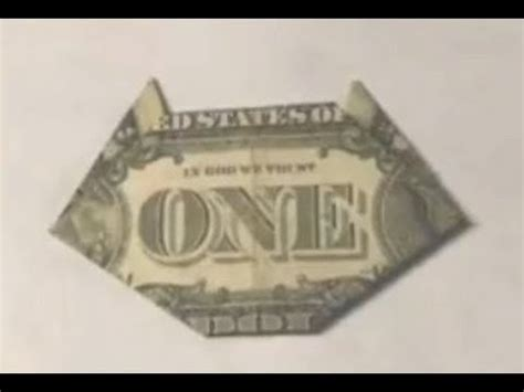 Dollar Bill Origami Cat - easy cat origami dollar bill moneygami paper