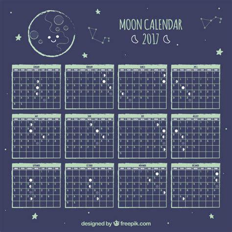 Calendario Lunare Calend 225 Lunar Bonito Estrelas Baixar Vetores Gr 225 Tis