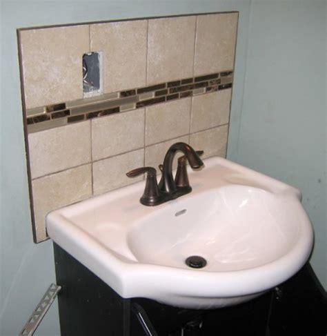 backsplash for bathroom sink bathroom sink with backsplash