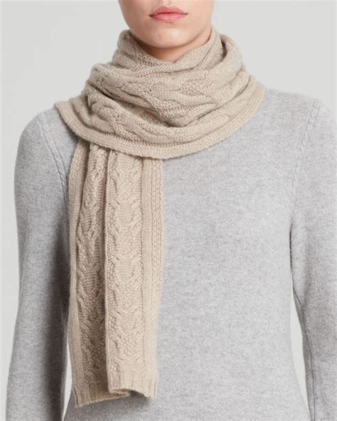 cable knit scarves c by bloomingdale s cable knit scarf in beige