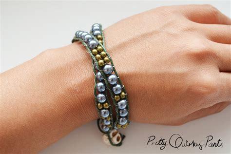 beaded wrap bracelet diy pretty diy beaded wrap bracelet