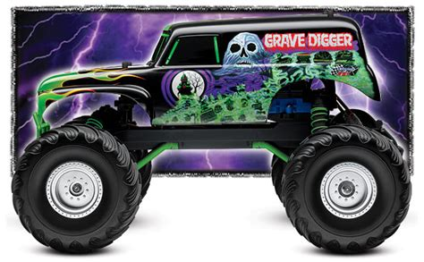 grave digger radio truck traxxas jam grave digger 1 10 2wd rtr w waterproof