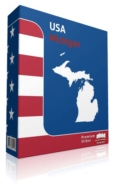 Us State Michigan County Map Template For Microsoft Powerpoint Premiumslides Com Michigan State Powerpoint Template