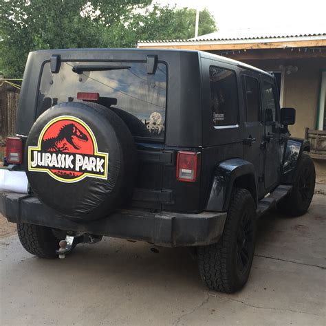 Jurassic Park Jeep Tire Cover Jurassic Park Tire Cover
