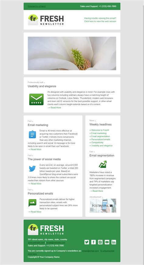 two page newsletter template fresh newsletter hybrid email template access to gifky