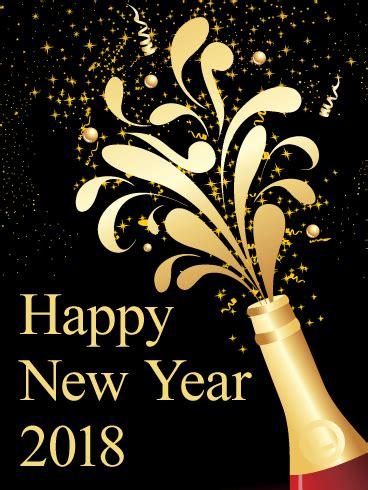 cheers happy new year card 2018 birthday greeting