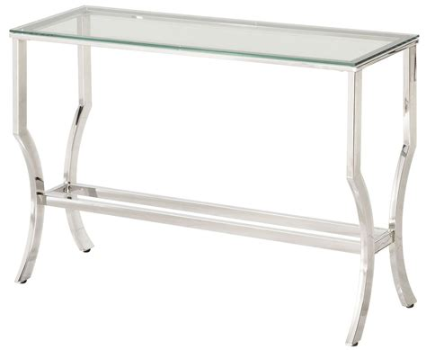 chrome and tempered glass sofa table 720339 coaster