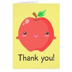 apple quot thank you quot note card zazzle