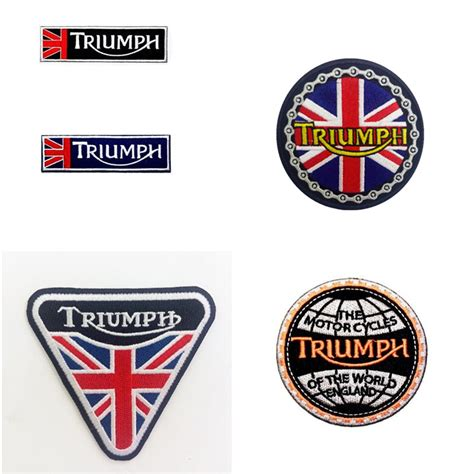 Vintage Triumph Embroidered Motorcycle Patch Jacket Kaos Kemeja Topi buy wholesale motorcycle patches from china motorcycle patches