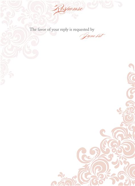 template of wedding invitation floral blank wedding invitation templates