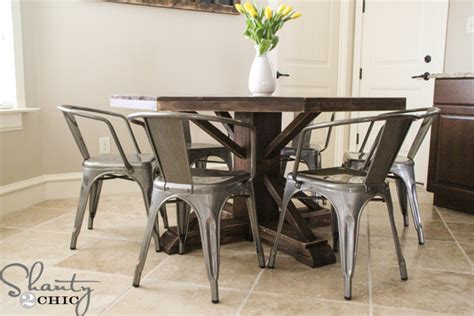 Octagon Home Plans by Diy Round Wooden Table For 110 Shanty 2 Chic