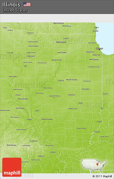 illinois physical map free physical 3d map of illinois
