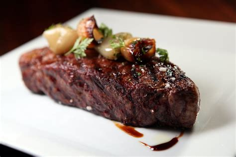 ny strip steak with chocolate balsamic reduction cousin