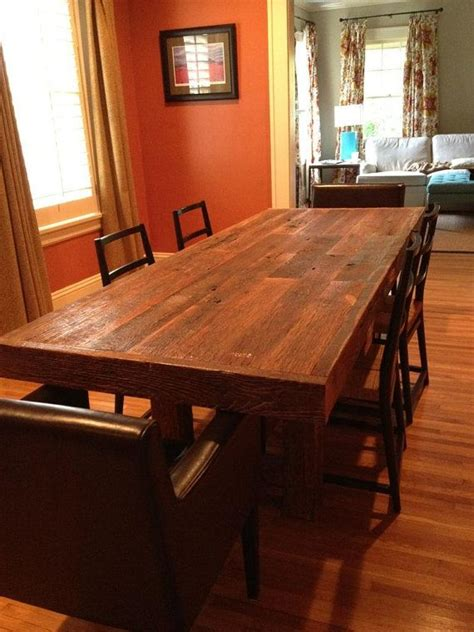 custom kitchen tables 1000 ideas about barn wood tables on barn