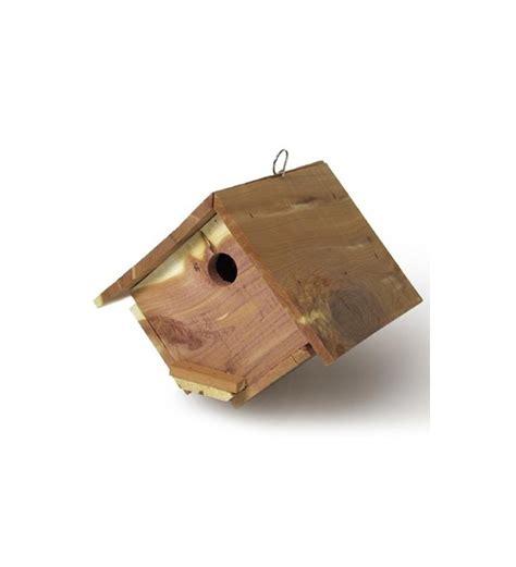 Wren House by Cedar Wren House Wooden Birdhouses Plow Hearth