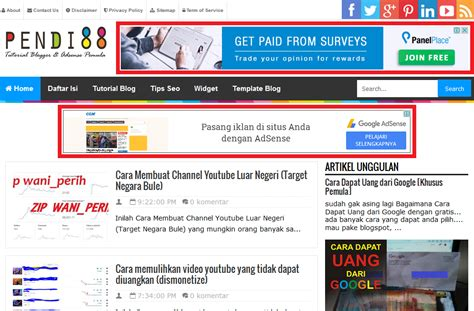 tutorial adsense blogspot panduan lengkap cara memasang iklan google adsense pada