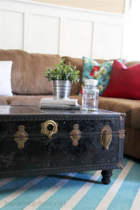 How To Make A Coffee Table Into An Ottoman How To Make Rugs With Paint Pictured Tutorial