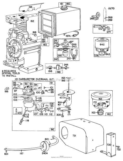 briggs and stratton fuel diagram briggs and stratton 146403 0632 99 parts diagram for carb